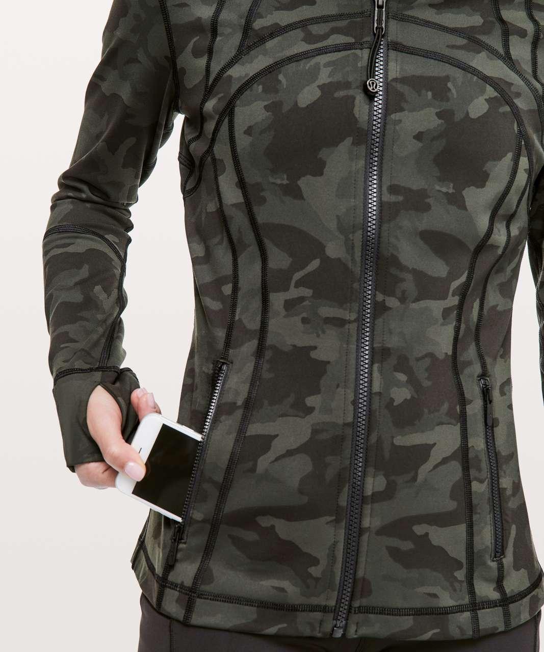 Lululemon Define Jacket - Incognito Camo Multi Gator Green