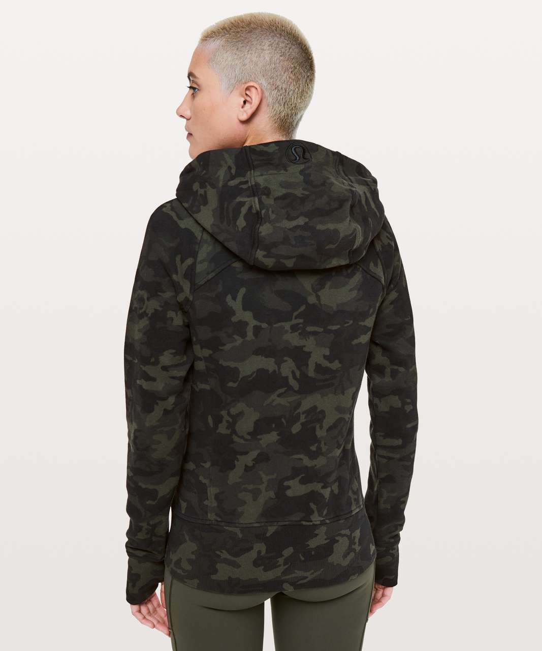 Lululemon Scuba Hoodie *Light Cotton Fleece - Incognito Camo Multi Gator Green