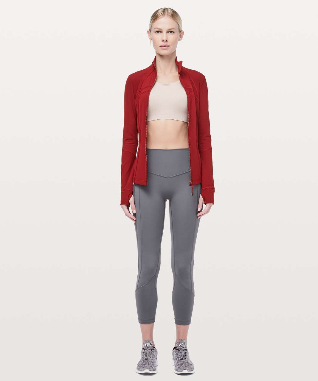 """Lululemon All The Right Places Crop II *23"""" - Titanium"""