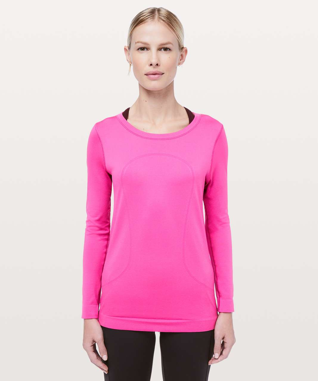 Lululemon Swiftly Tech Long Sleeve (Breeze) *Relaxed Fit - Sonic Pink / Sonic Pink