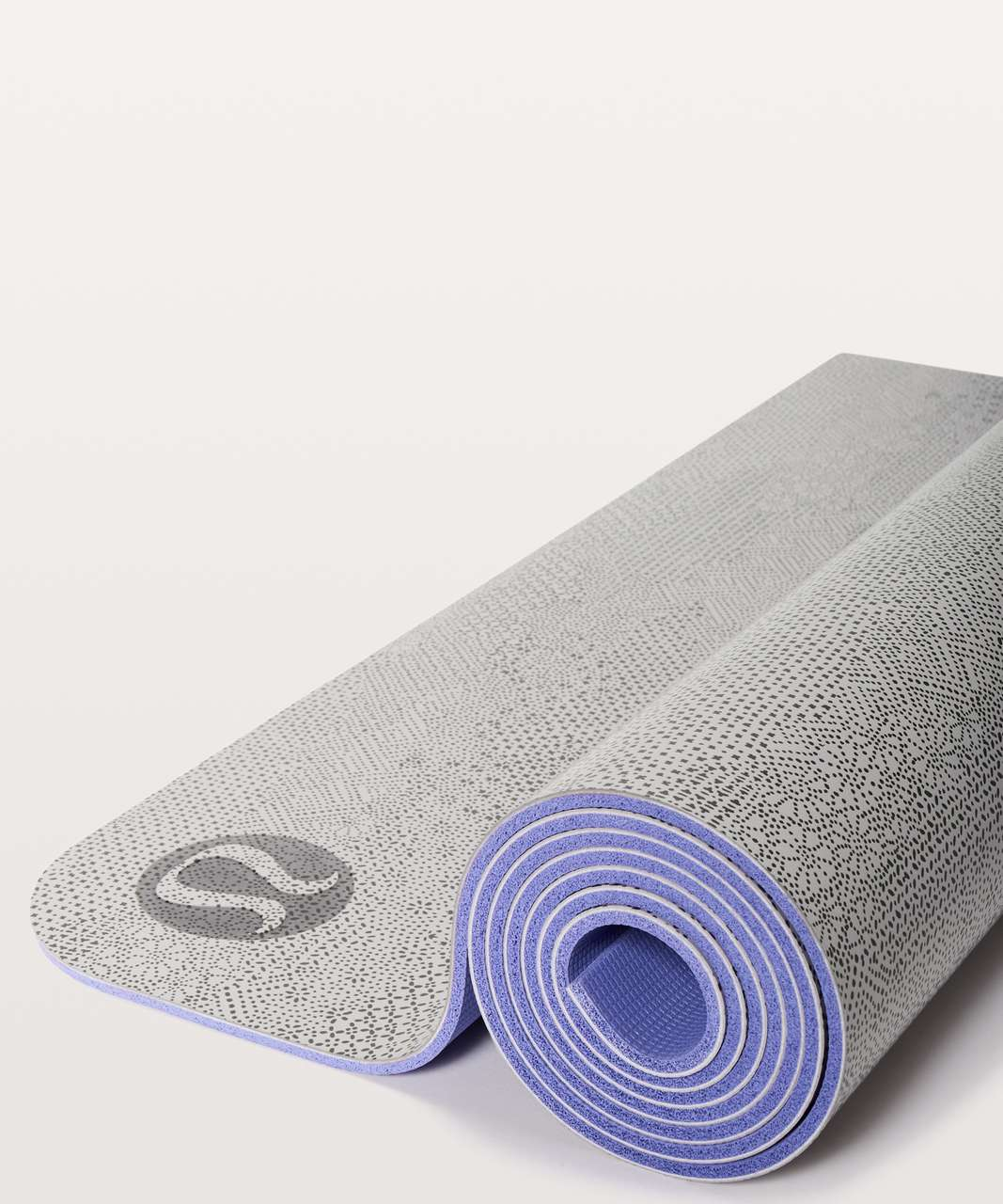Lululemon The Reversible Mat 5mm - Meisai Maxi Ice Grey Black / Solar Purple