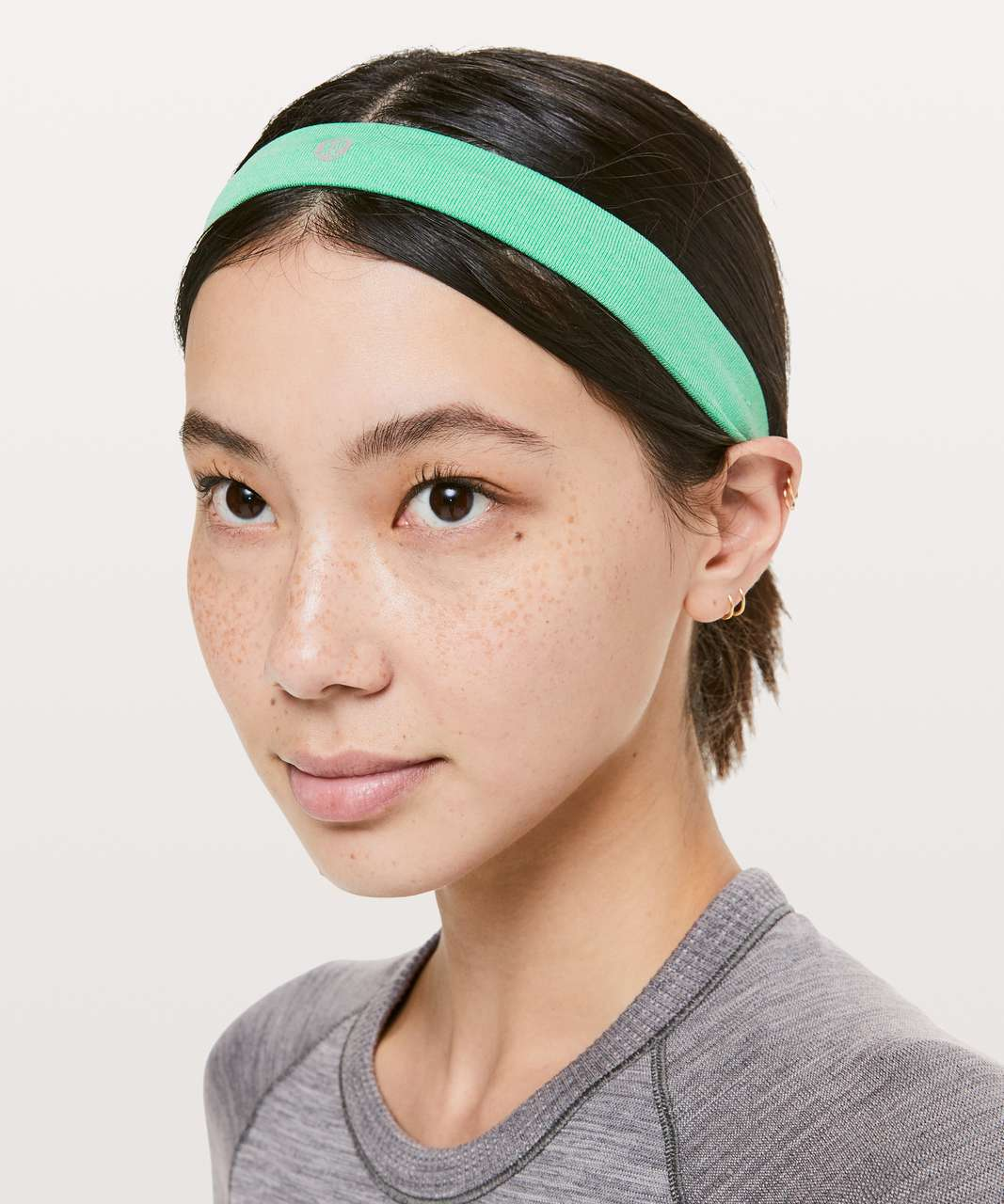 Lululemon Cardio Cross Trainer Headband - Tropix Green / White