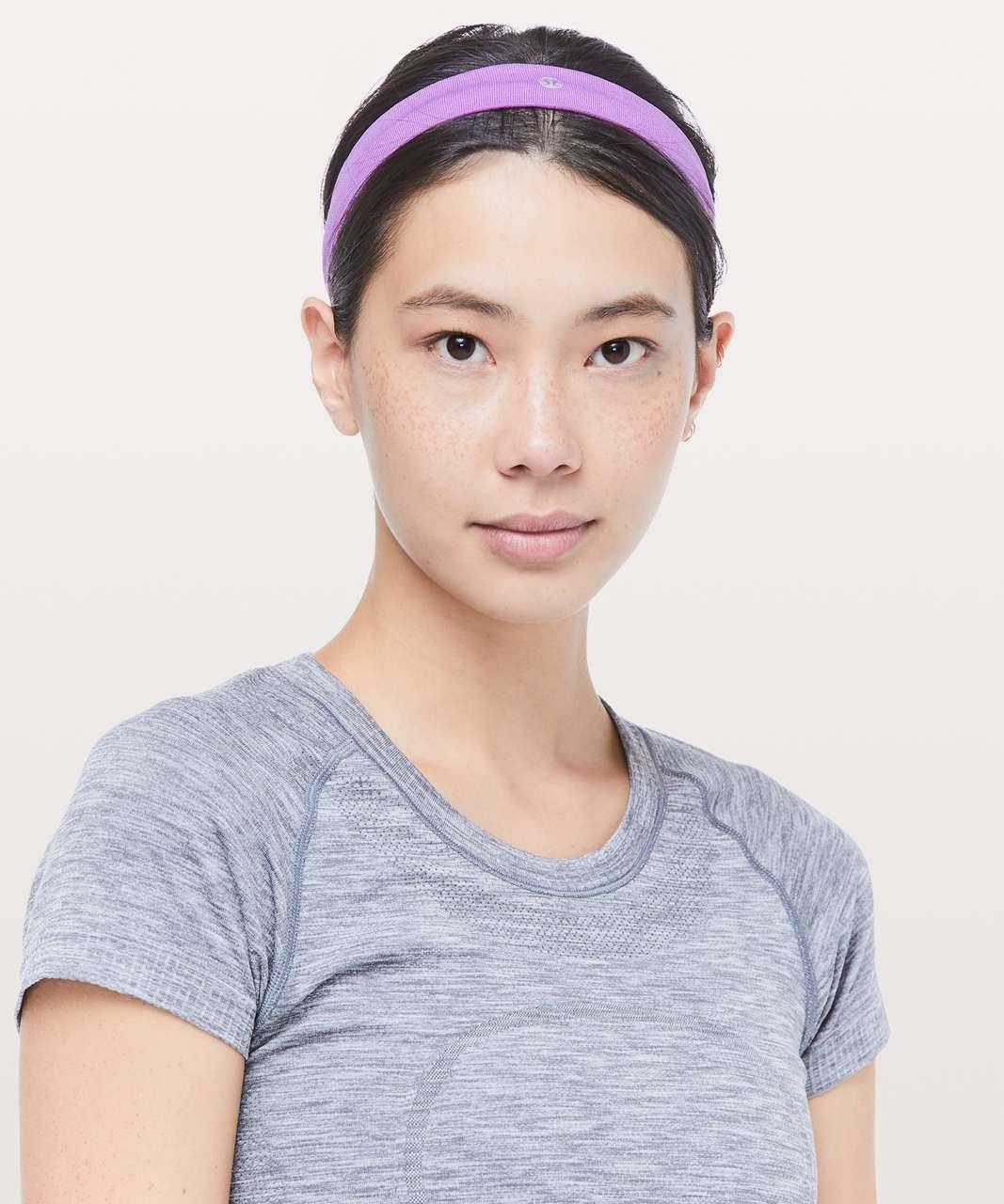 Lululemon Cardio Cross Trainer Headband - Purple Blossom / White