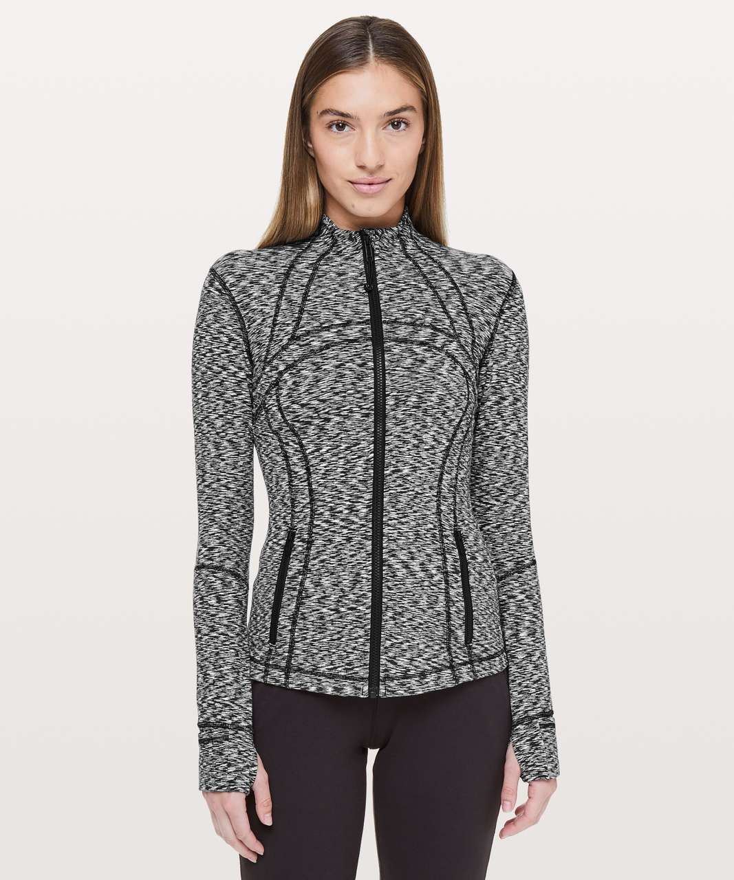Lululemon Define Jacket *Rulu - Spaced Out Space Dye Black White