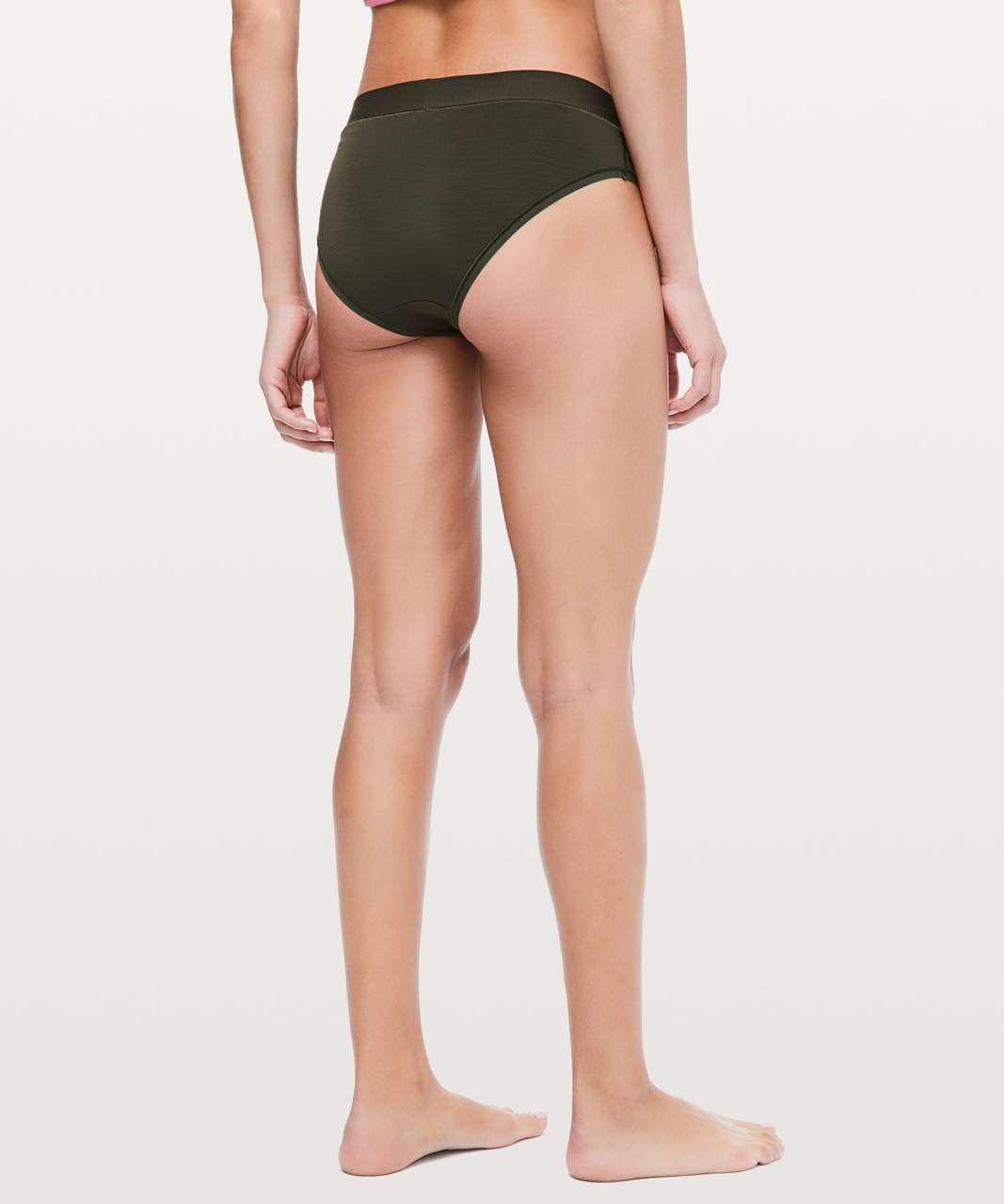 Lululemon Mula Bandhawear Bikini *3 Pack - Dark Olive / Blissful Pink / Petrol Blue