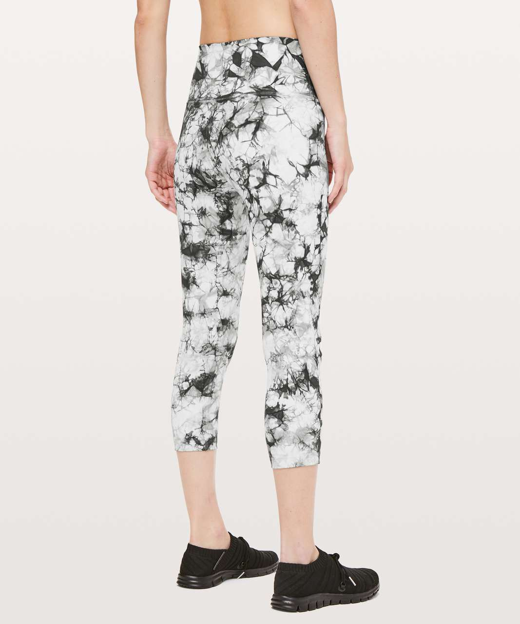 "Lululemon Wunder Under Crop Hi-Rise *Full-On Luxtreme Dual Shibori 21"" - Dual Shibori Antique White Cement Grey"