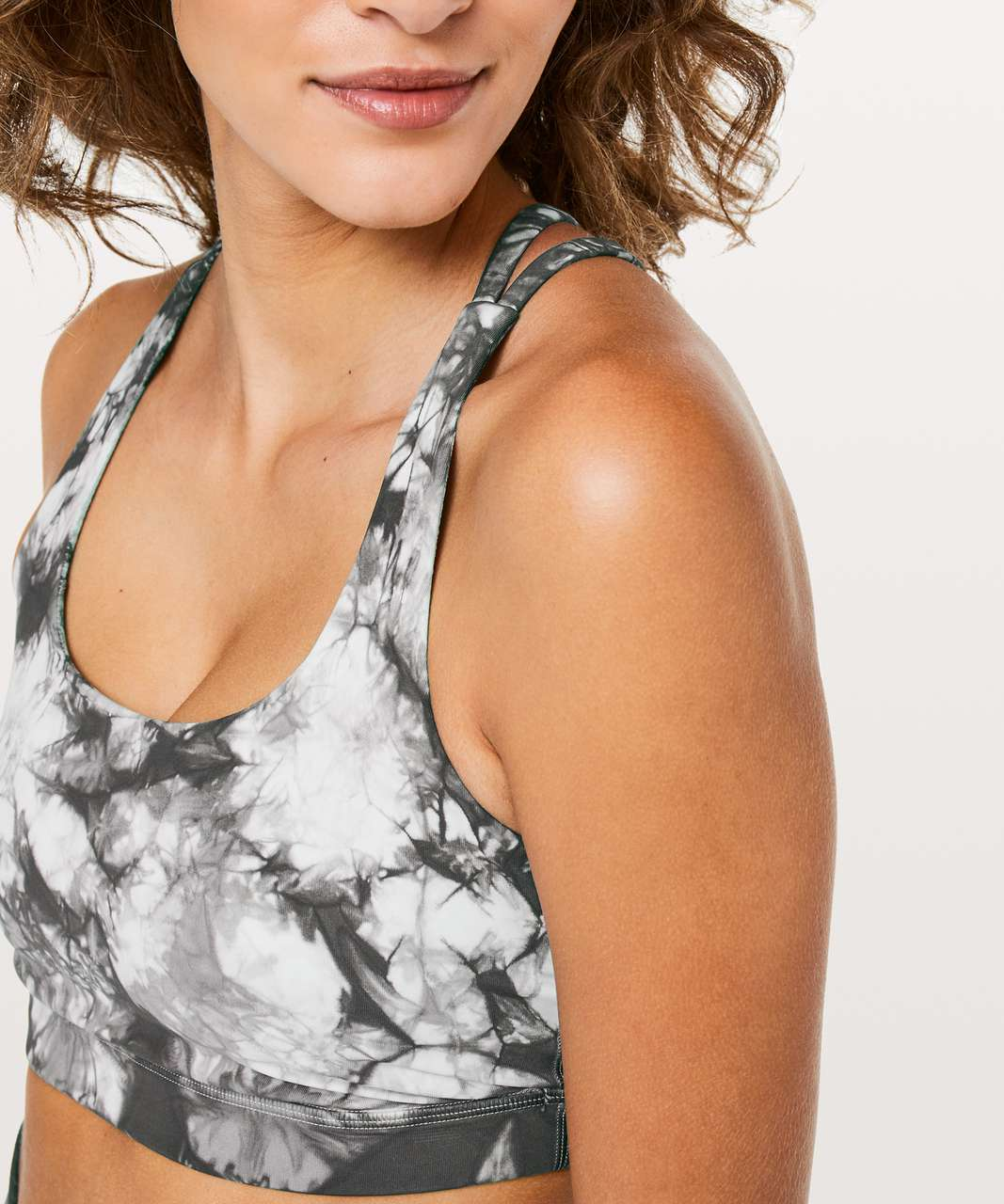 Lululemon Energy Bra *Shibori - Dual Shibori Antique White Cement Grey