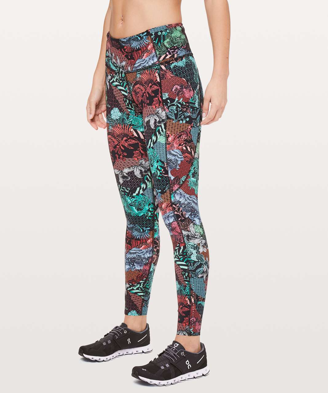 "Lululemon Fast & Free 7/8 Tight II *Nulux 25"" - Zen Clash Multi"