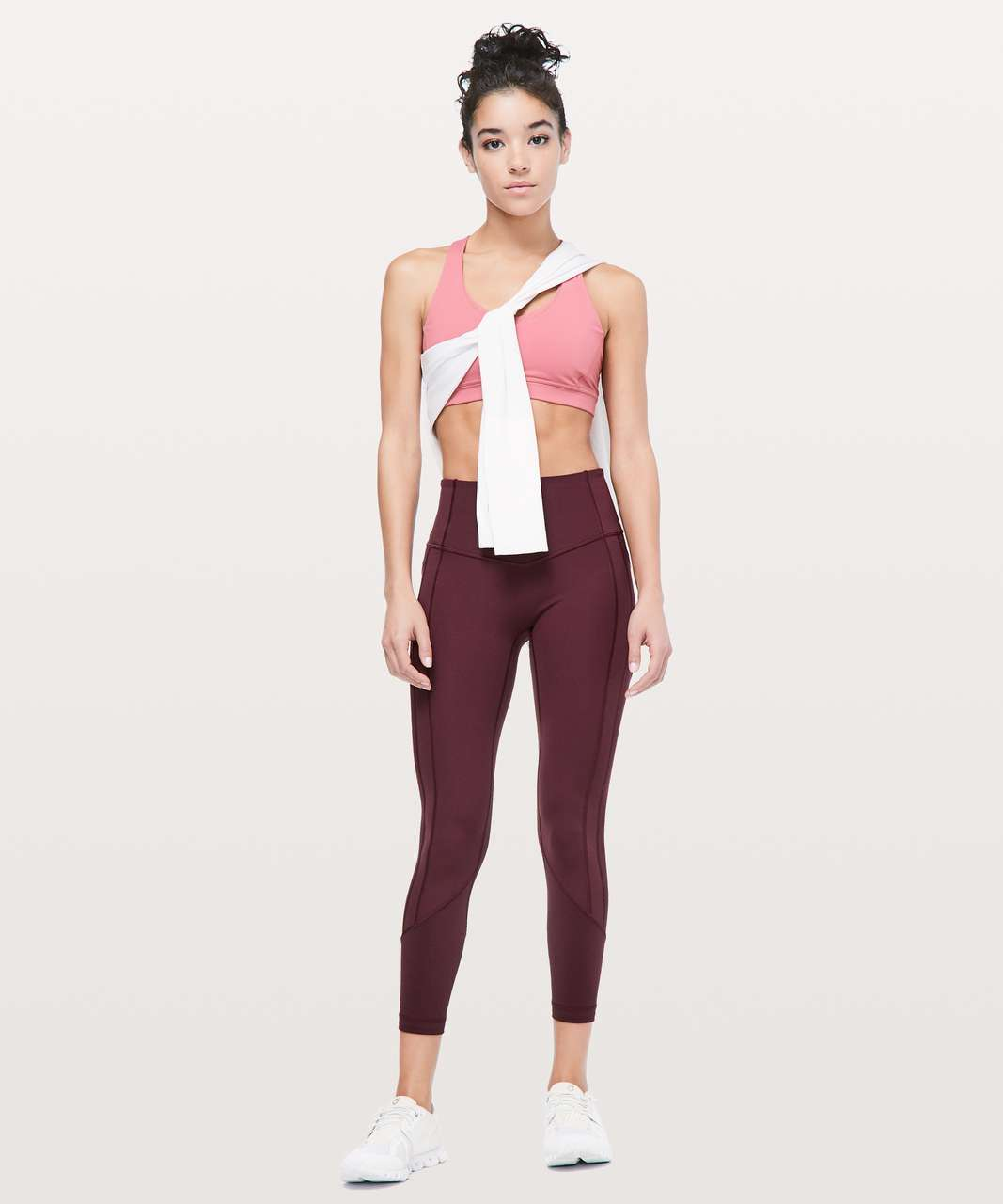 """Lululemon All The Right Places Crop II *23"""" - Dark Adobe"""