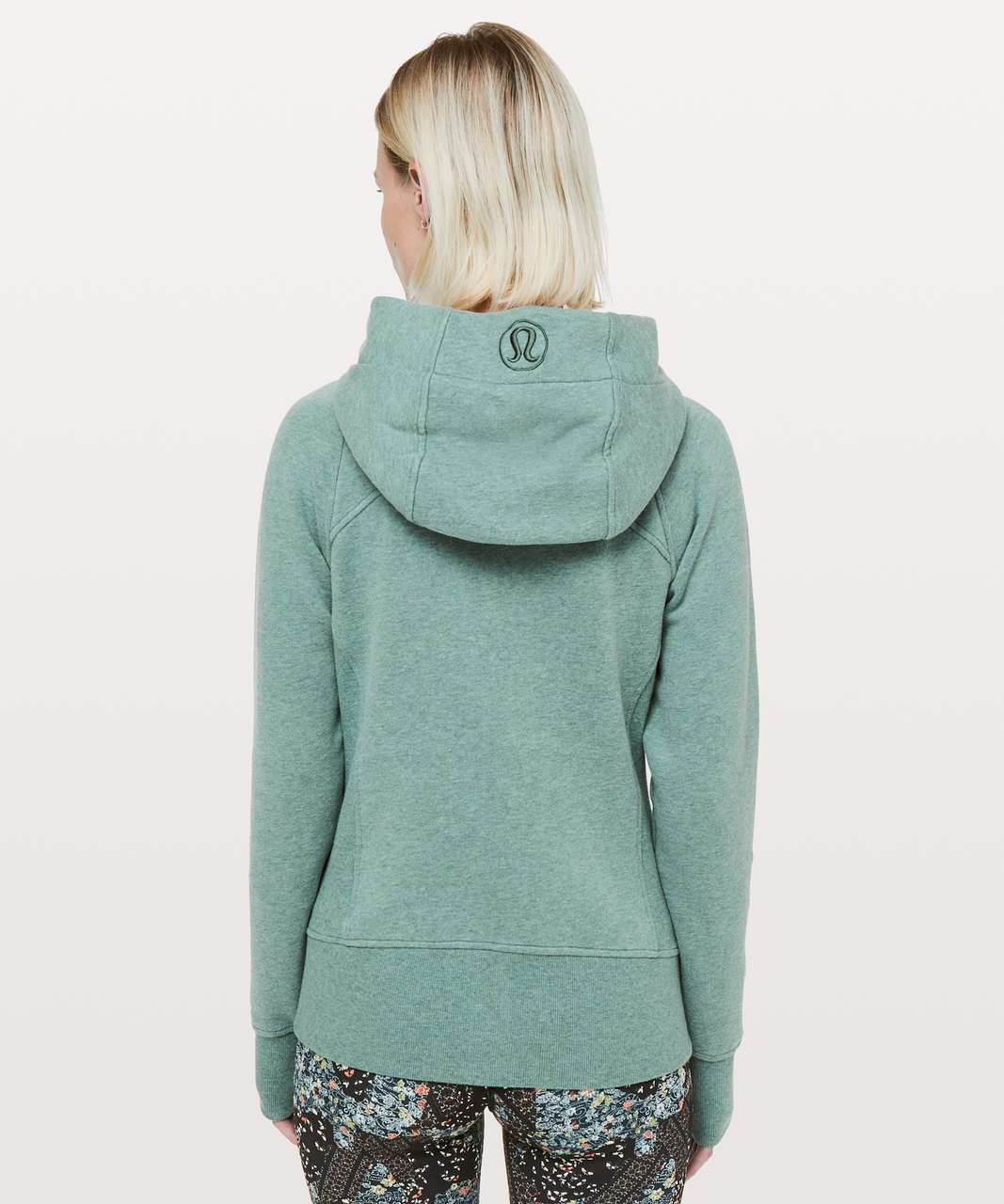 Lululemon Scuba Hoodie *Light Cotton Fleece - Heathered Green Smoke