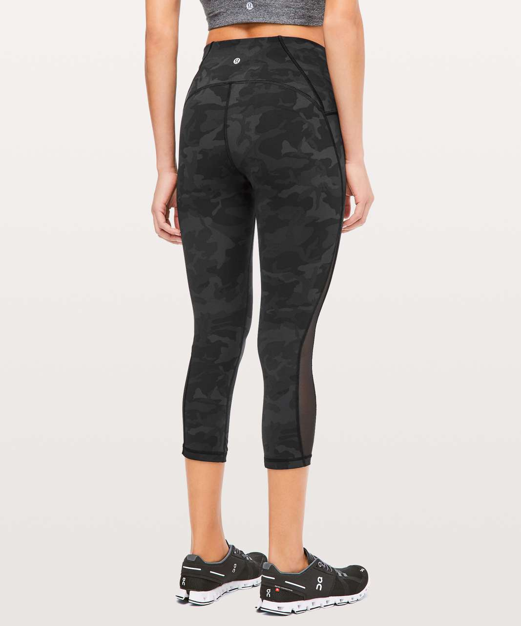 "Lululemon Train Times Crop *21"" - Incognito Camo Multi Grey / Black"