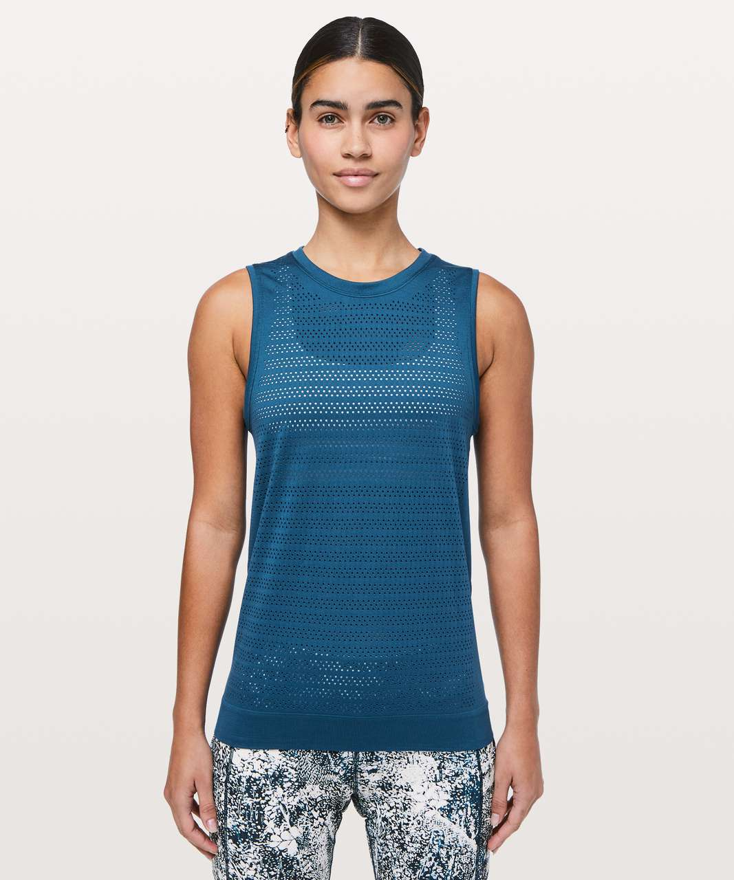 Lululemon Breeze By Muscle Tank II - Carbon Blue / Carbon Blue