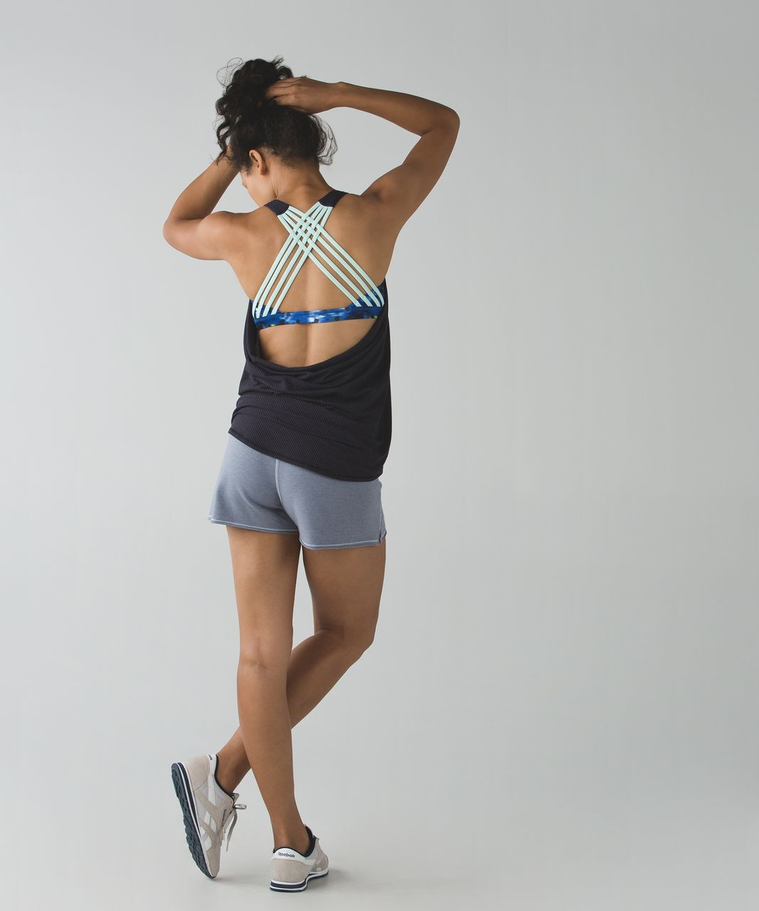 Lululemon Wild Tank - Naval Blue / Windy Blooms Saphire Blue Multi / Sea Mist