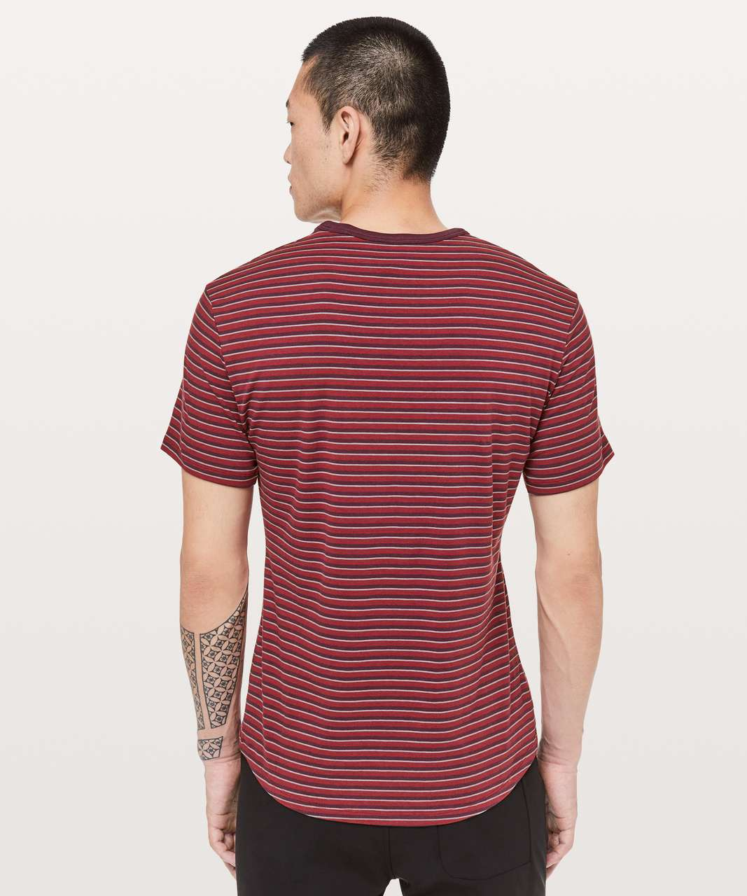 Lululemon 5 Year Basic Tee *Updated Fit - Dark Adobe / Light Cast / Dark Sport Red