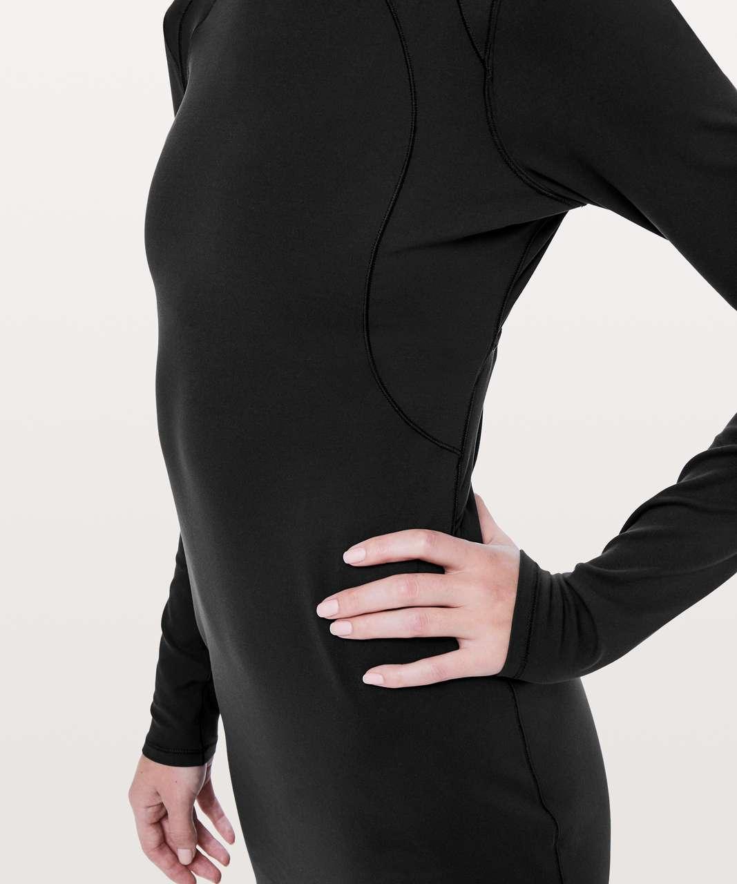 0d5642ebdcd839 Lululemon Contour Dress *Nulu - Black - lulu fanatics