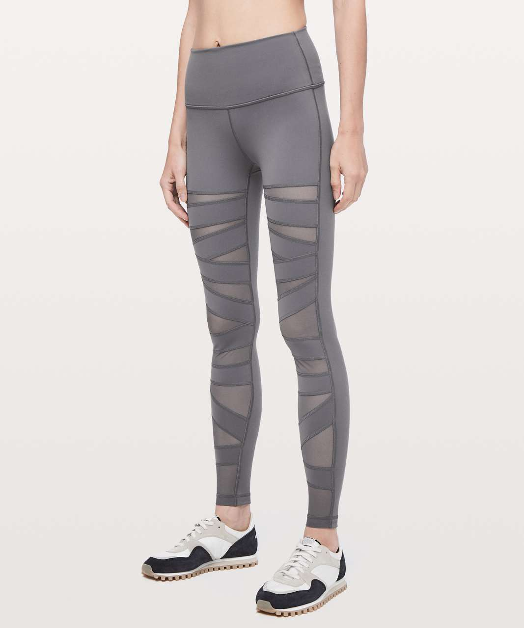 "Lululemon Wunder Under Pant (High-Rise) *Tech Mesh 28"" - Titanium"