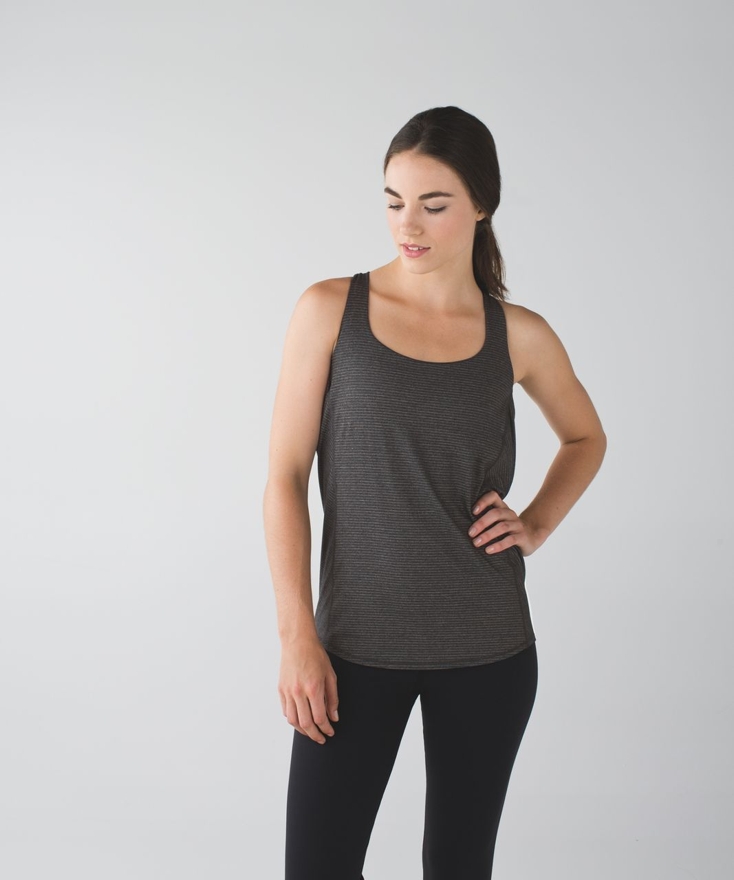 Lululemon Wild Tank - Heathered Black / Black