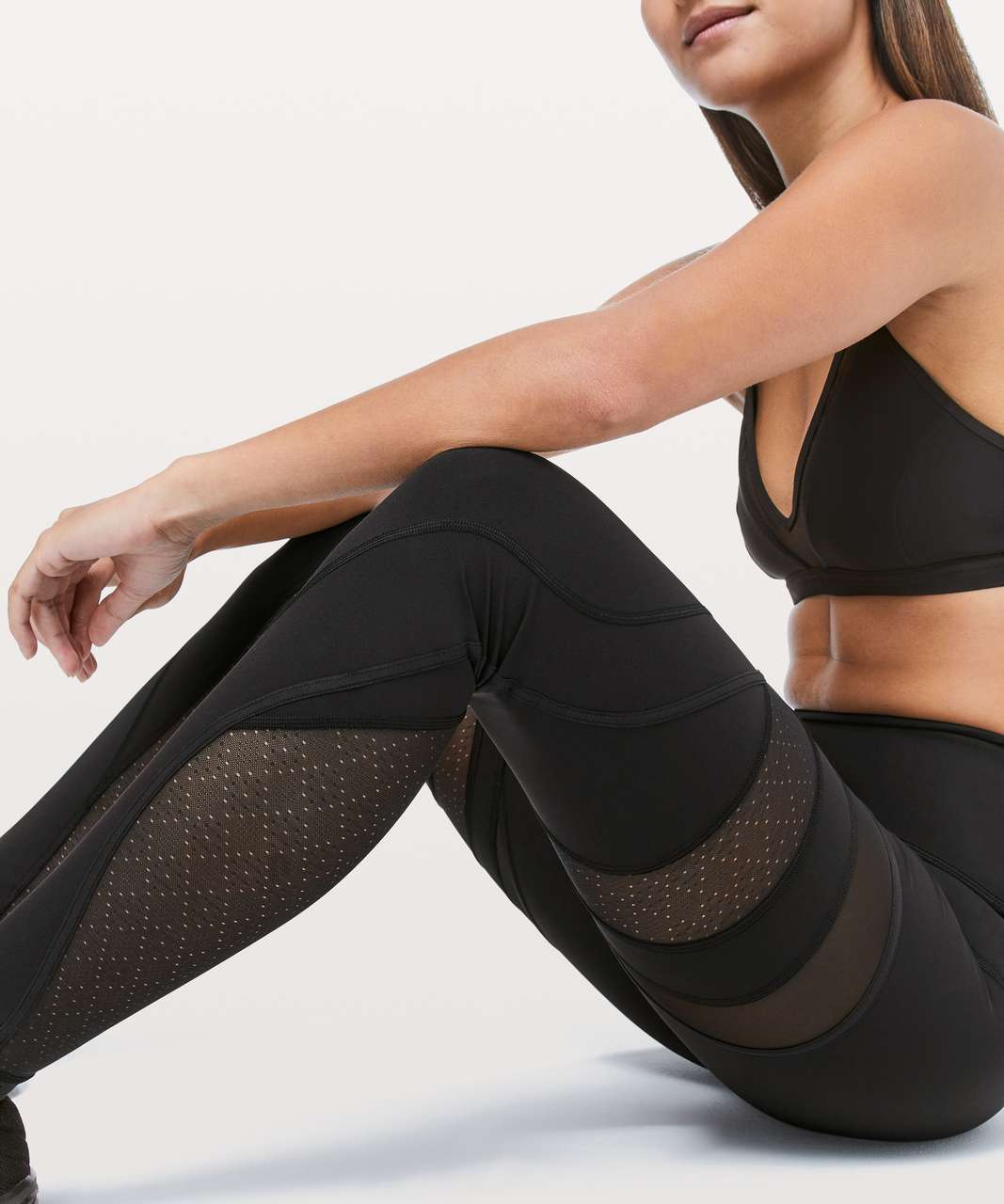 "Lululemon Wunder Under High-Rise Tight *Mesh 28"" - Black (First Release)"