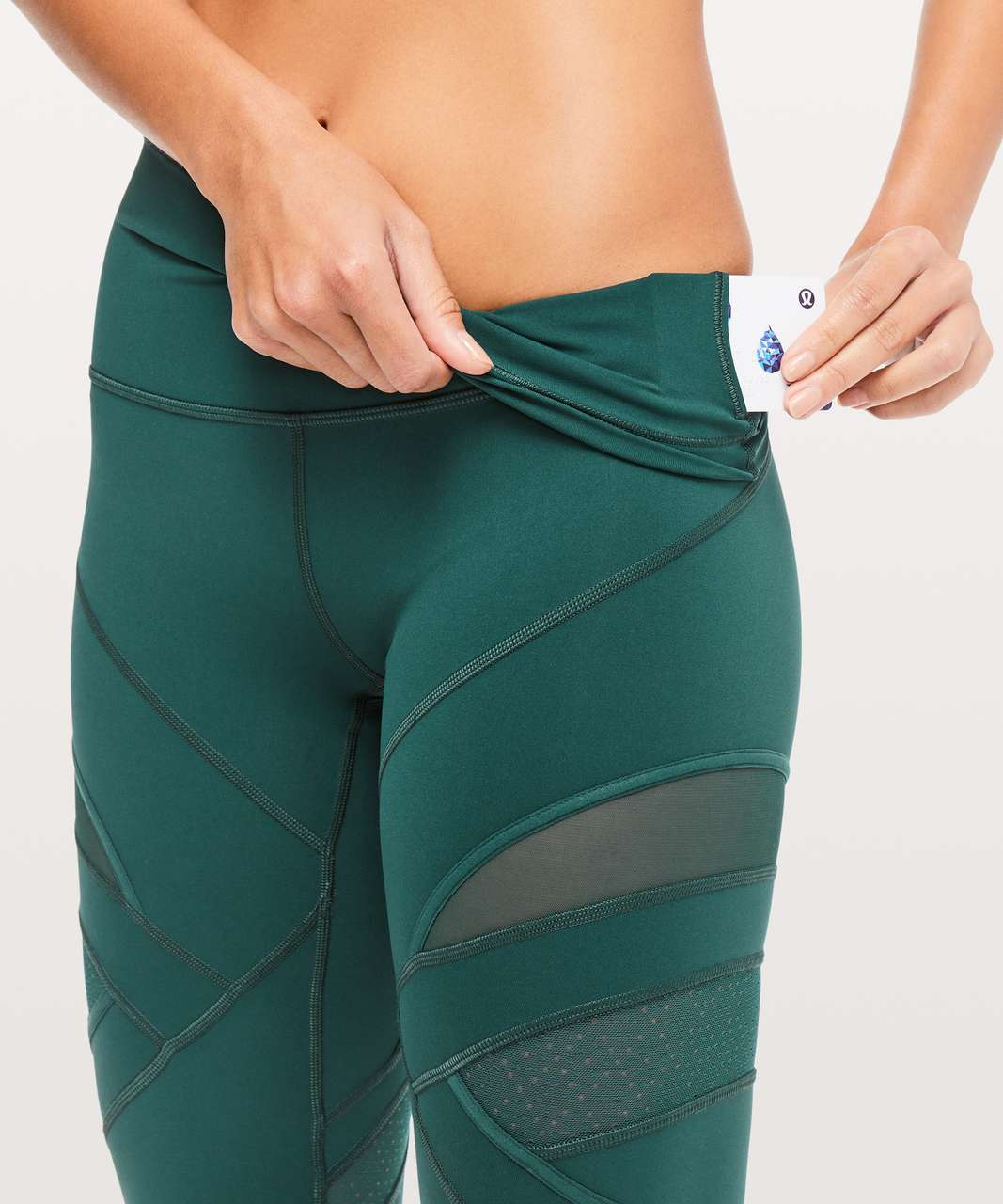 "Lululemon Wunder Under High-Rise Tight *Mesh 28"" - Royal Emerald"