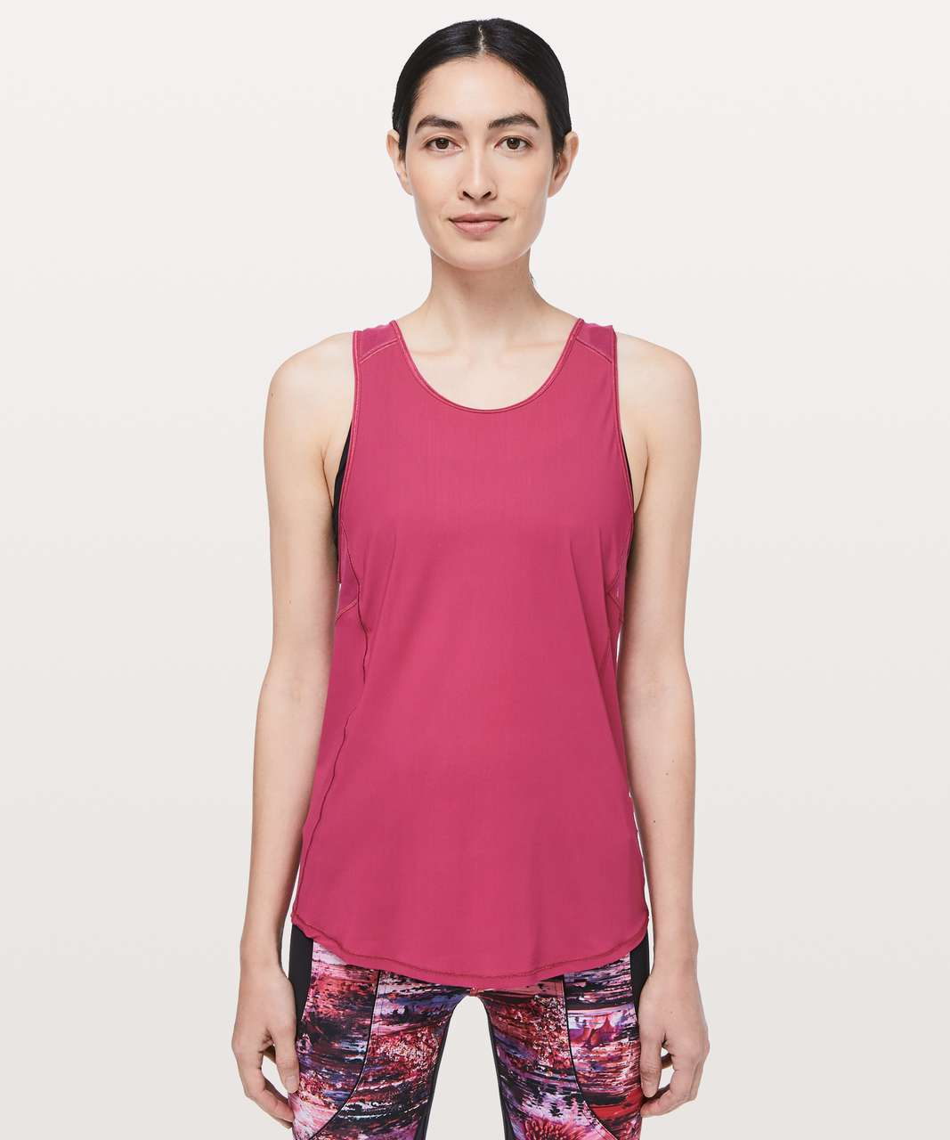 Lululemon Sculpt Tank *Tie Back - Violet Red