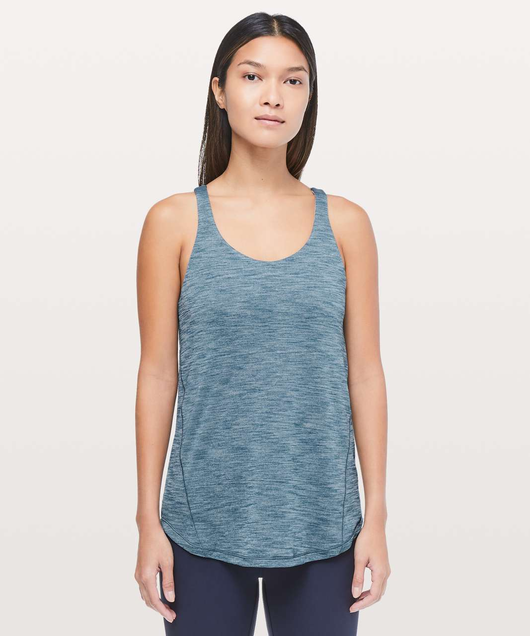 Lululemon Moment To Movement 2-In-1 Tank - Heathered Carbon Blue / Paisley Glaze Multi