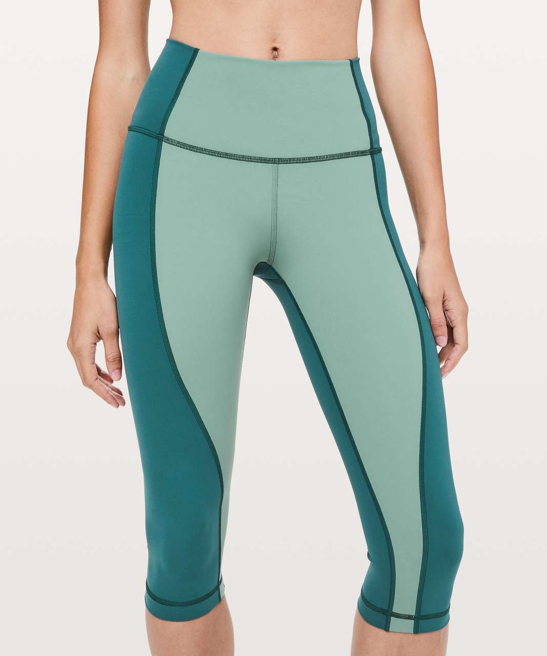 "Lululemon Wunder Under Crop High-Rise *Curve 17"" - Frosted Pine / Green Jasper"