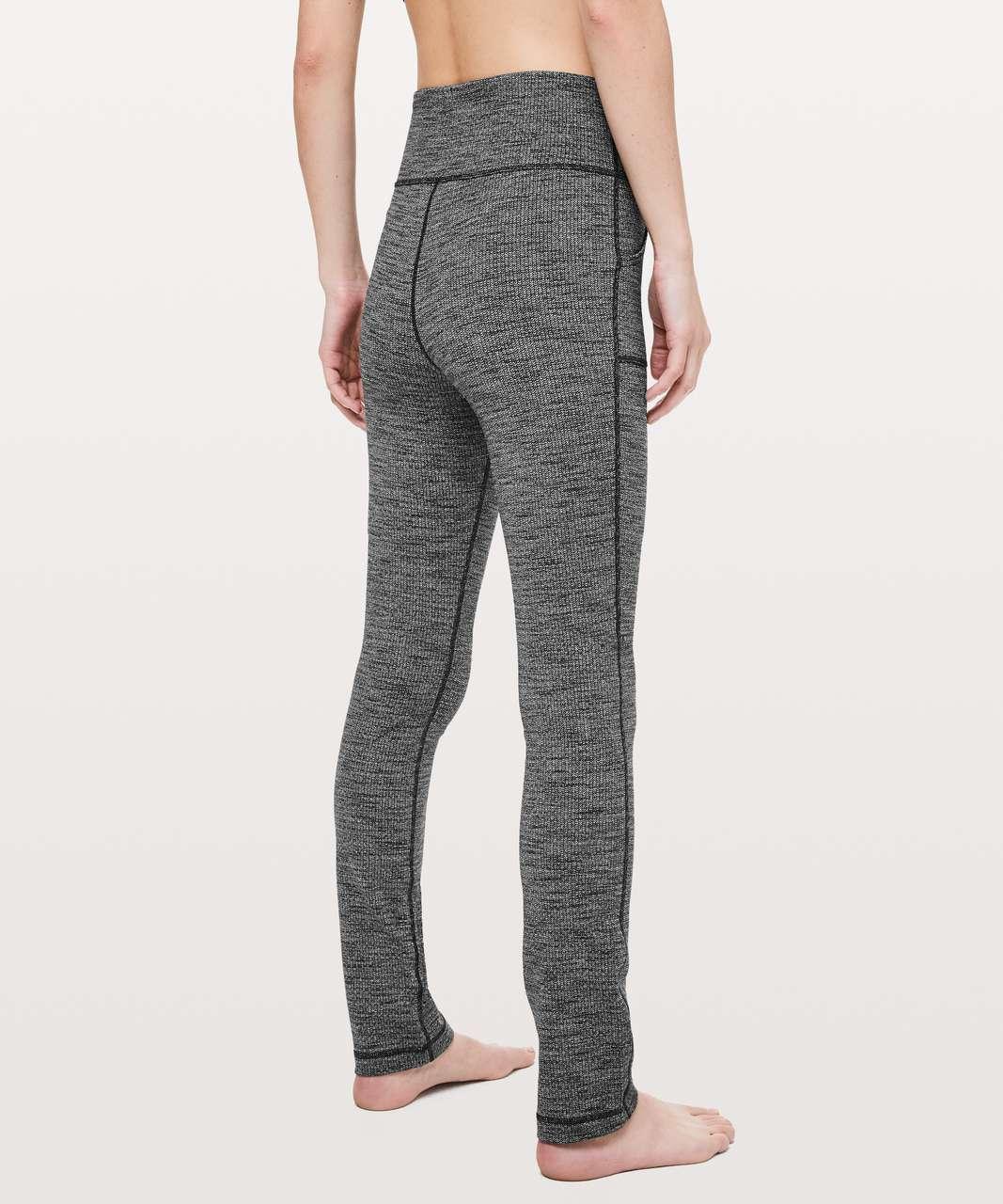 62604f4502b40 Lululemon Skinny Will Pant *Full-On Luon - Luon Variegated Knit Black  Heathered Black