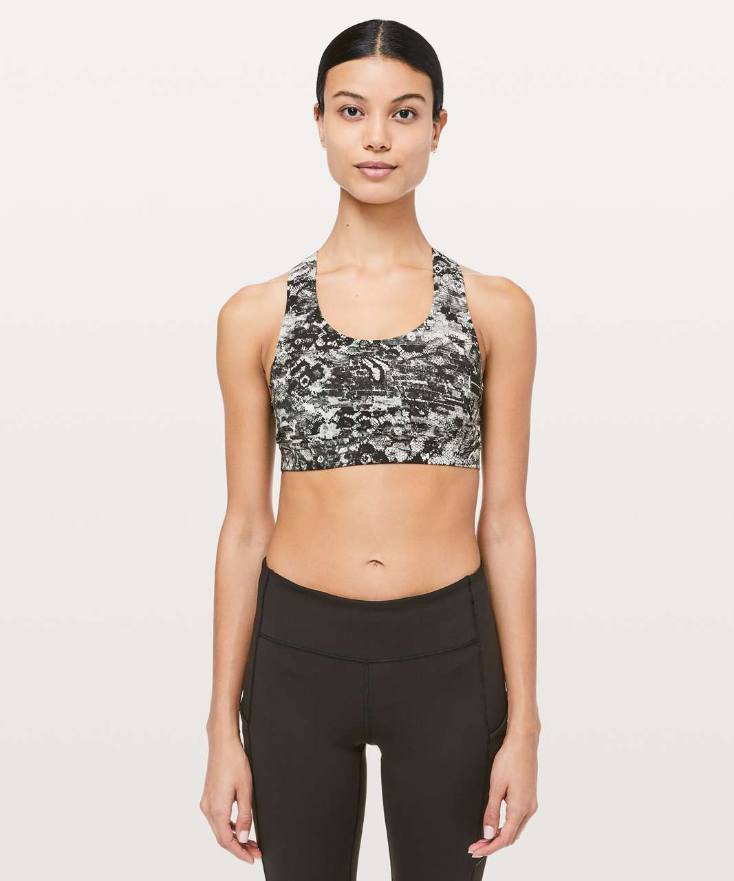 30fdbb5861 Lululemon All Sport Bra III - Masked Lace Starlight Black - lulu ...