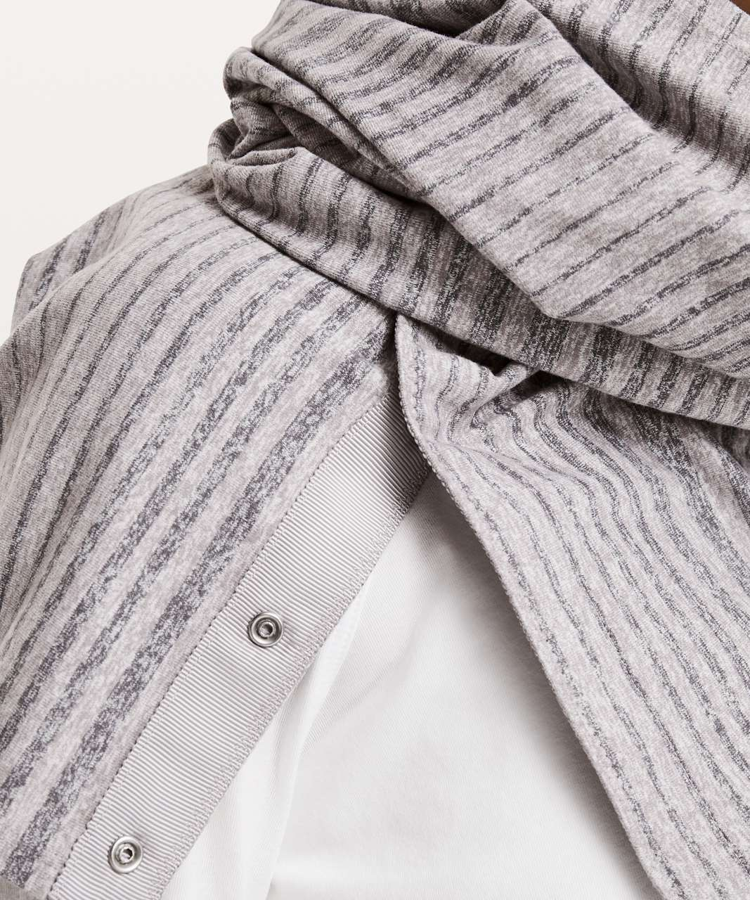 Lululemon Vinyasa Scarf *Rulu - Mini Akido Stripe Heathered Dark Chrome Heathered Titanium