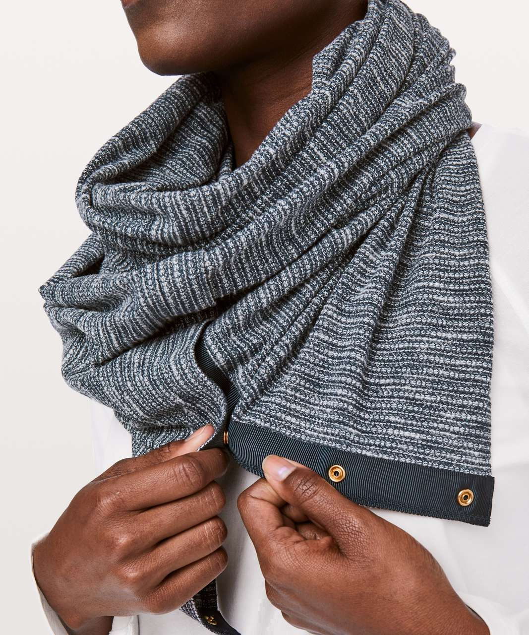 Lululemon Vinyasa Scarf *Rulu - Coco Pique True Navy Heathered True Navy