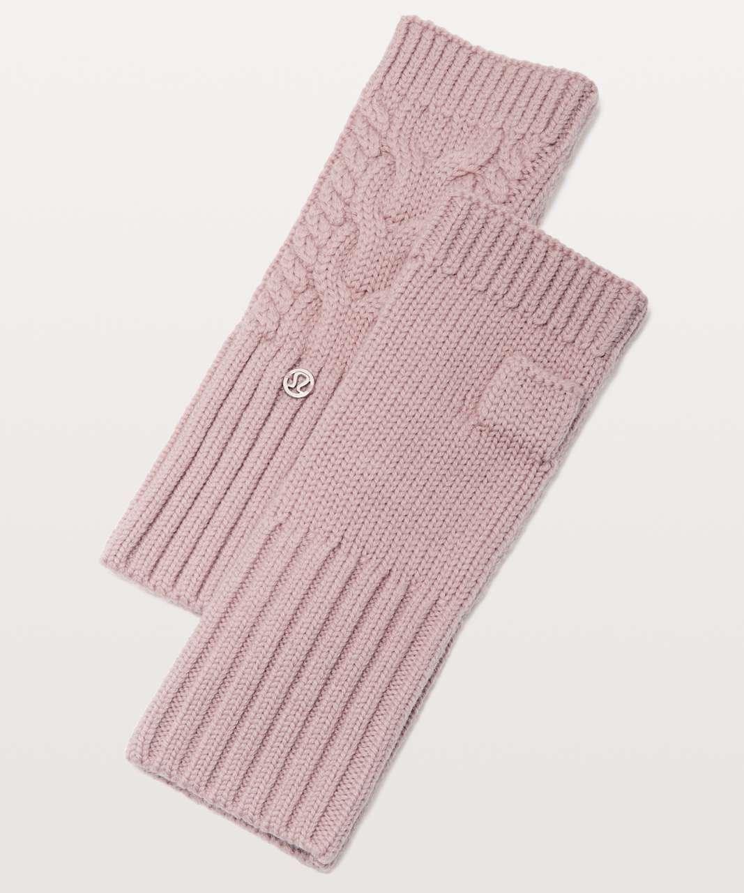 Lululemon Twisted Bliss Fingerless Gloves - Mink Berry