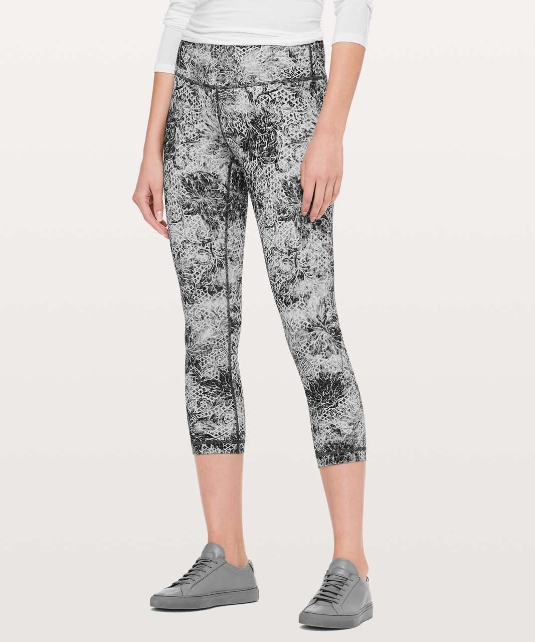 "Lululemon Wunder Under Crop (High-Rise) *Full-On Luxtreme 21"" - Serigraph Starlight Black Multi"