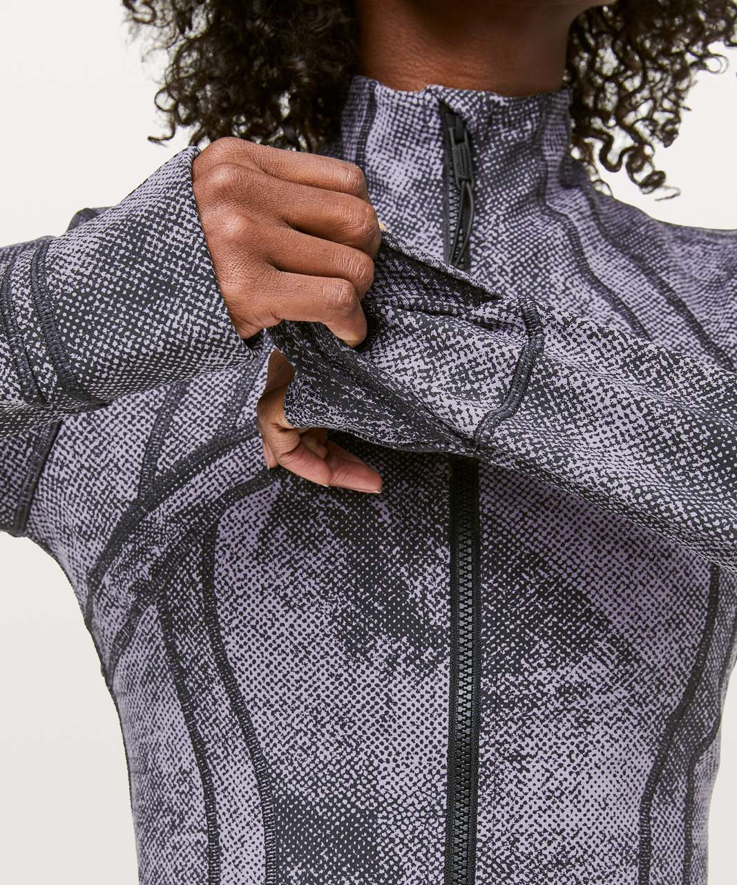 Lululemon Define Jacket - Pixel Print Purple Quartz Black