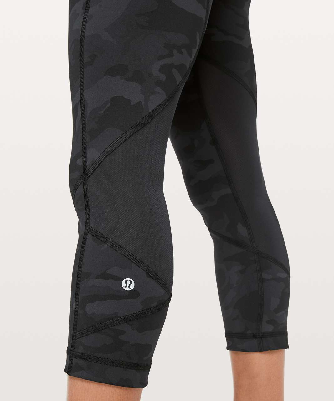 "Lululemon Pace Rival Crop *22"" - Incognito Camo Multi Grey / Black"