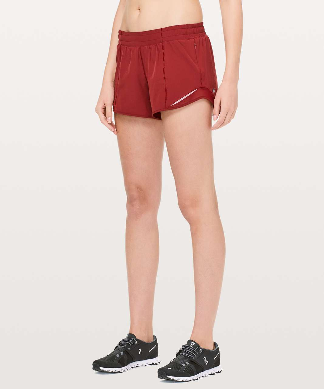 "Lululemon Hotty Hot Short II *Long 4"" - Dark Sport Red"