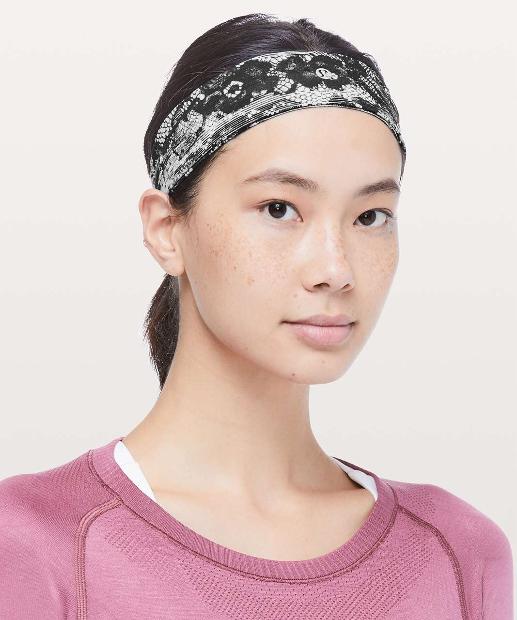 Lululemon Fly Away Tamer Headband II - Masked Lace Starlight Black
