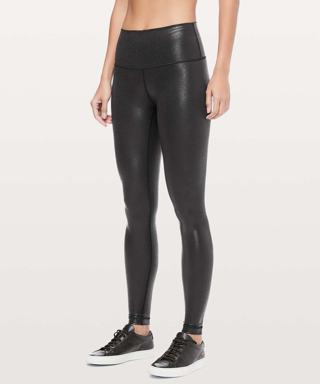 "Lululemon Wunder Under High-Rise Tight *Foil 28"" - Luminosity Foil Print Black Black"