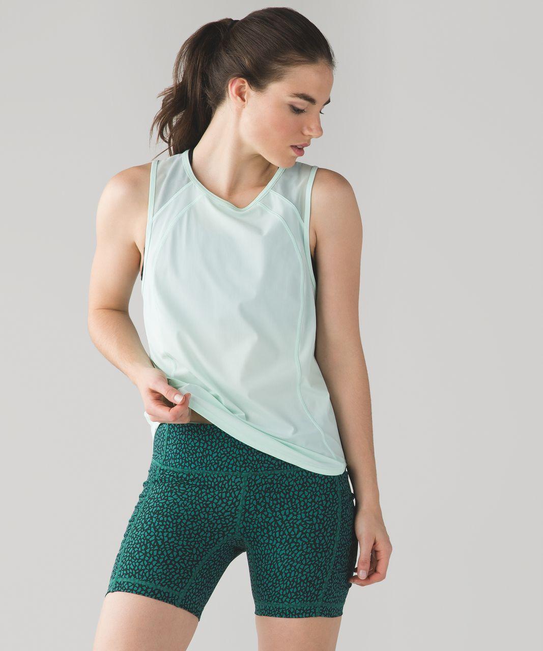 Lululemon Speed Track Short - Miss Mosaic Hunter Green Deep Green