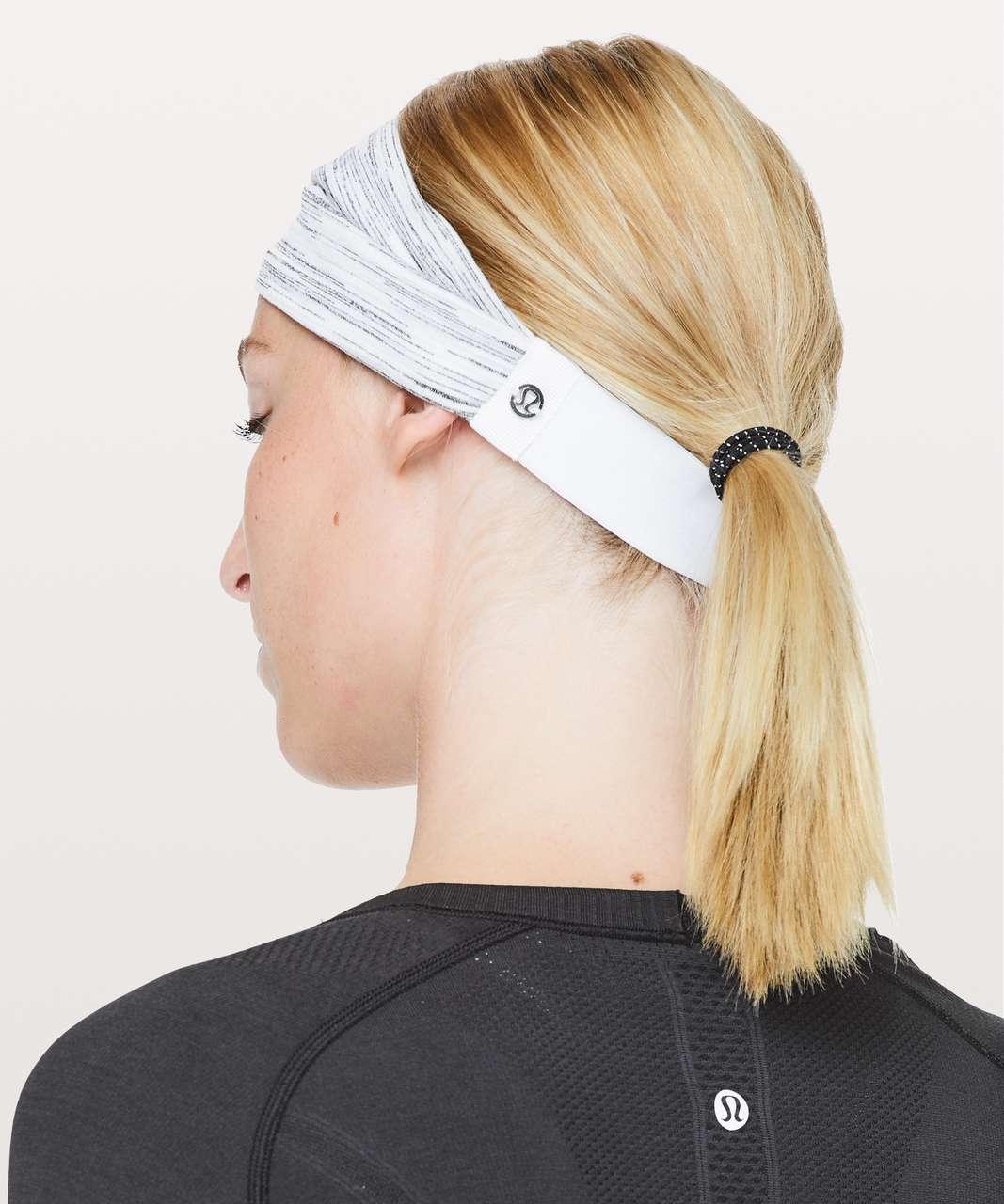 Lululemon Fringe Fighter Headband - Wildwood White Multi / Space Dye Camo White Silver Spoon