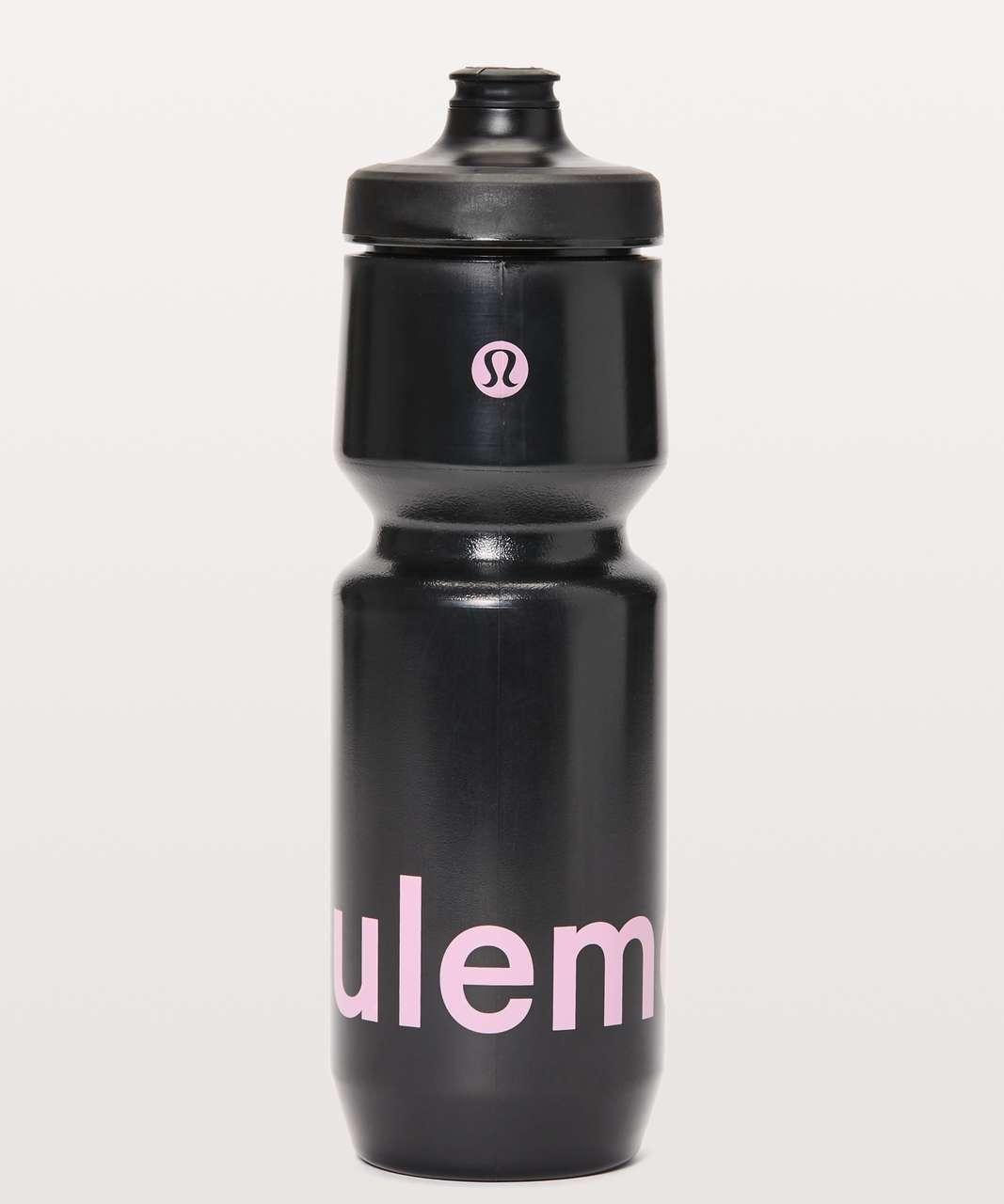 Lululemon Purist Cycling Water Bottle *26 oz - Black / Purist Wordmark Misty Pink