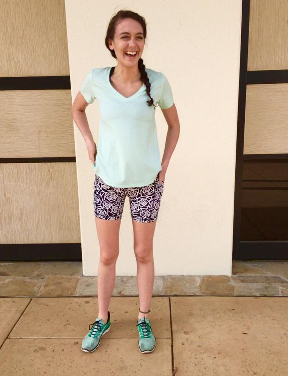 Lululemon Speed Track Short - Posey Black White / Miss Mosaic White