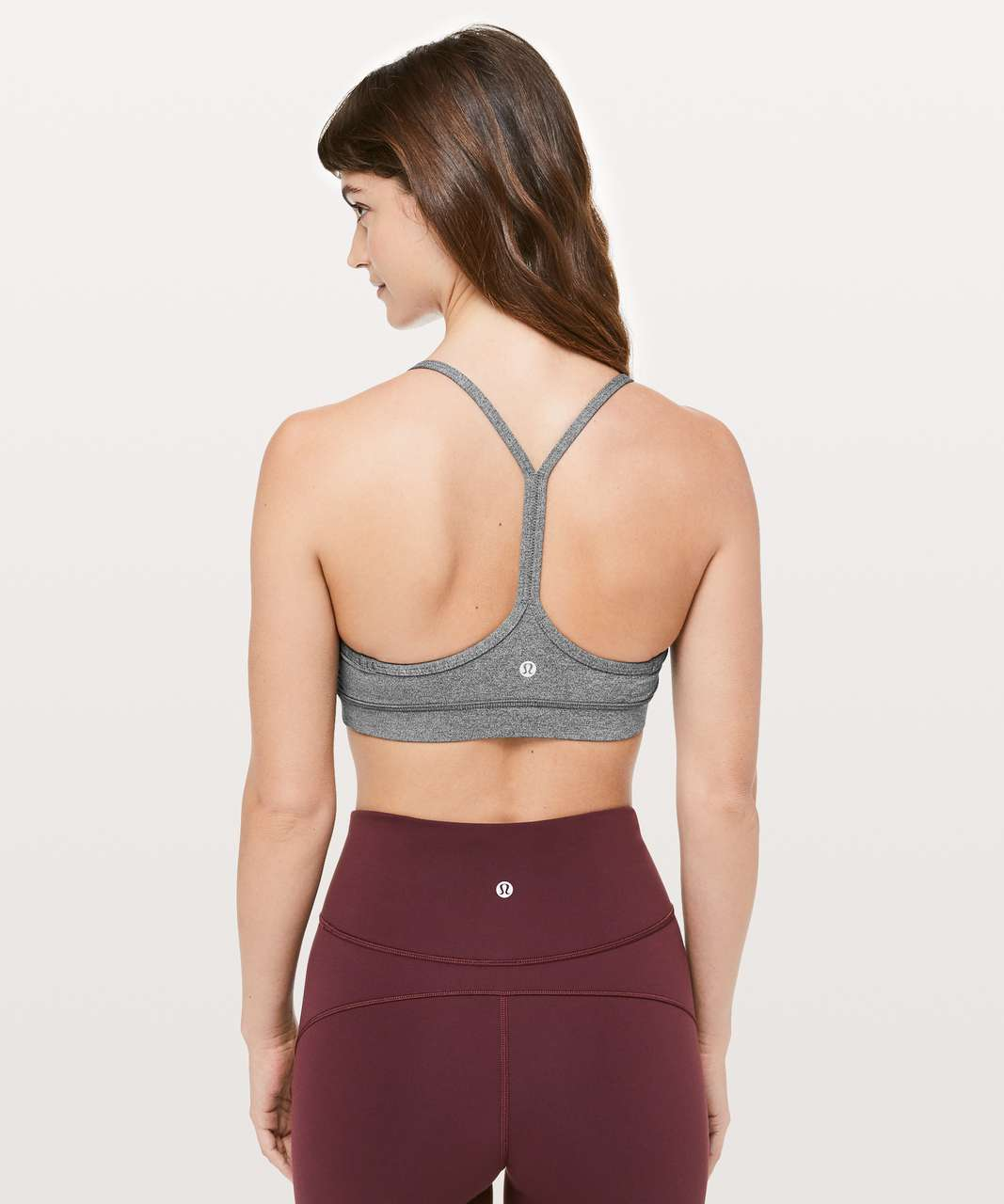 3c390ab713 Lululemon Flow Y Bra  Luxtreme - Heathered Black - lulu fanatics