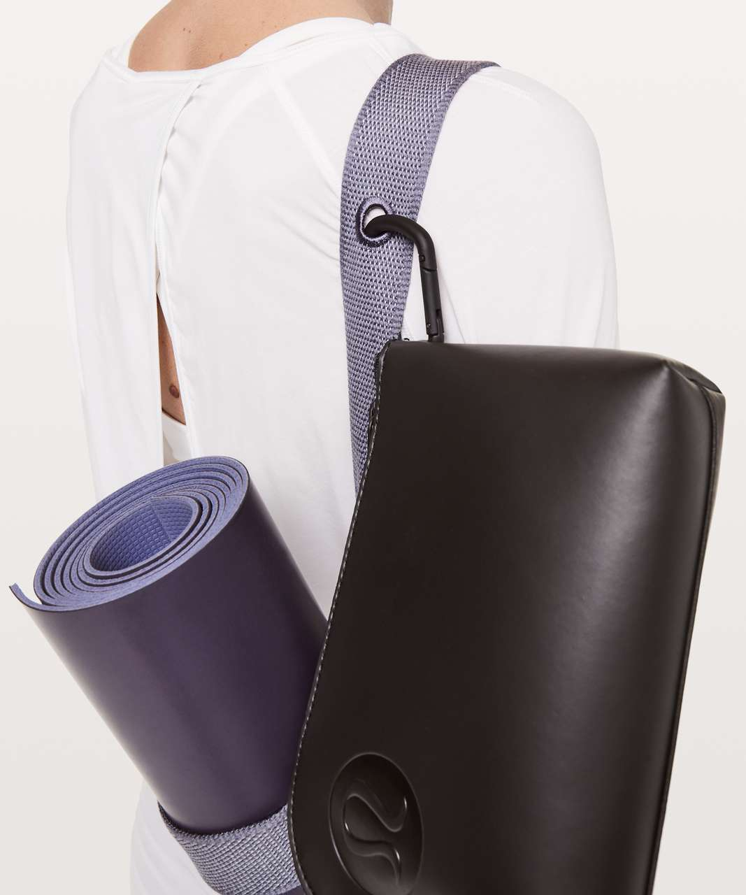 Lululemon Loop It Up Mat Strap *Squad - Silver Lilac / White