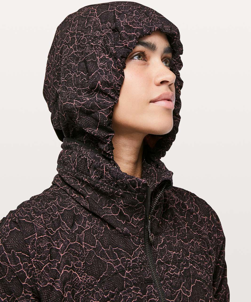 Lululemon Gather Me Slightly Jacket - Lacescape Spanish Rose Black