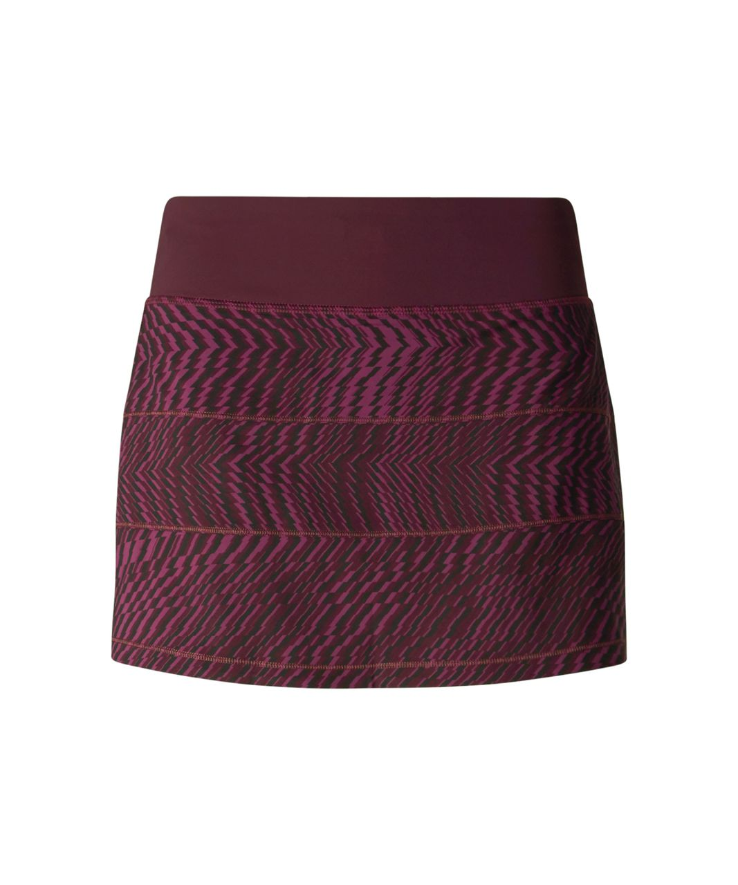 Lululemon Pace Rival Skirt II (Regular) - Shifted Horizon Red Grape Black / Bordeaux Drama