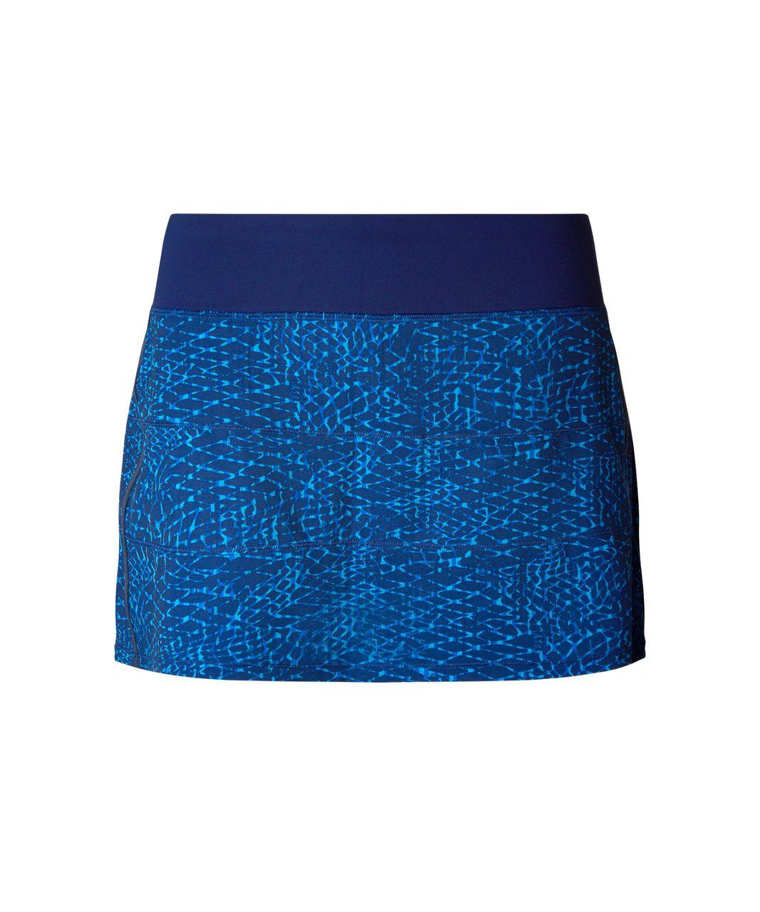 Lululemon Pace Rival Skirt II (Regular) - Samba Snake Kayak Blue Hero Blue / Hero Blue