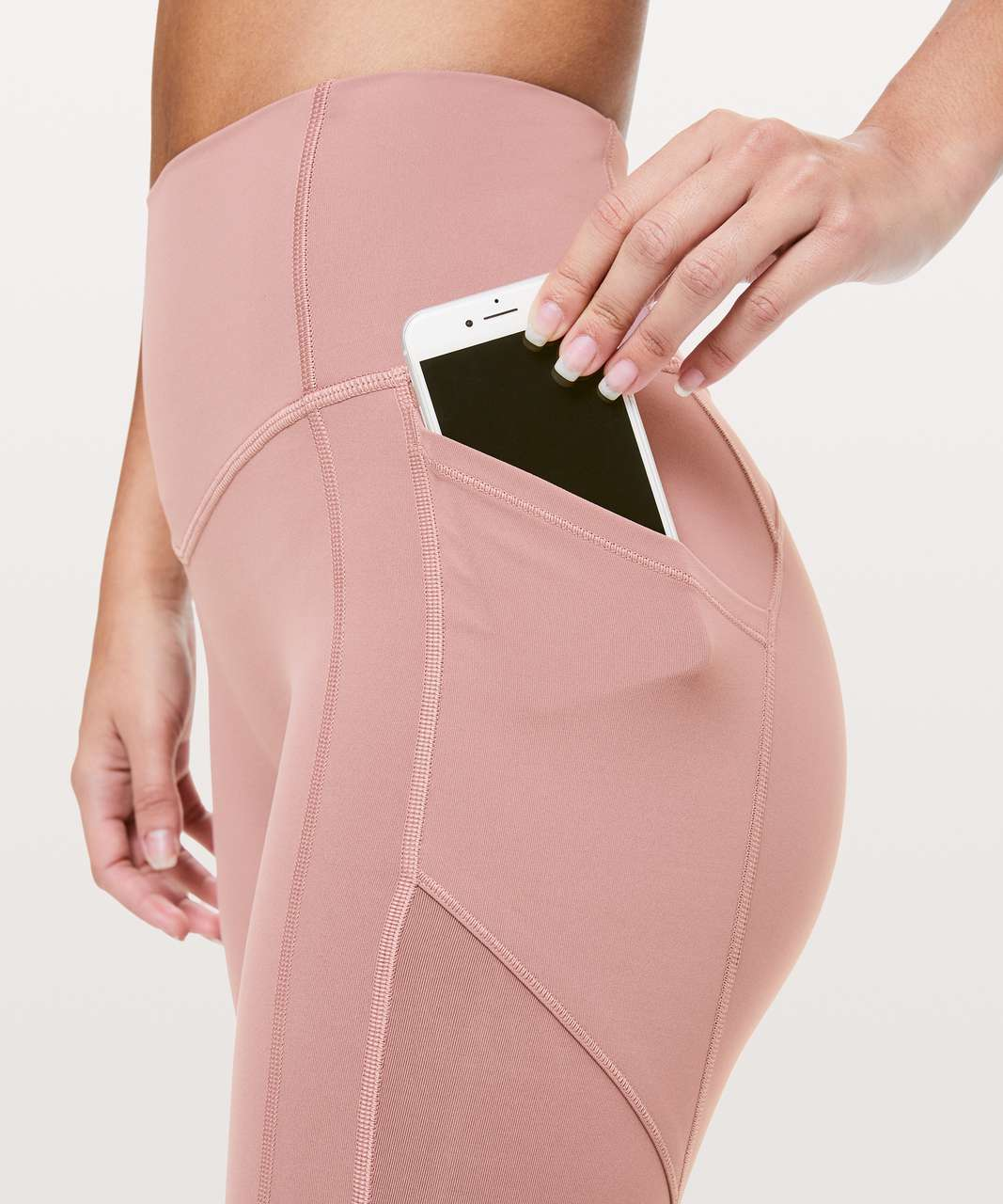 """Lululemon All The Right Places Crop II *23"""" - Spanish Rose"""