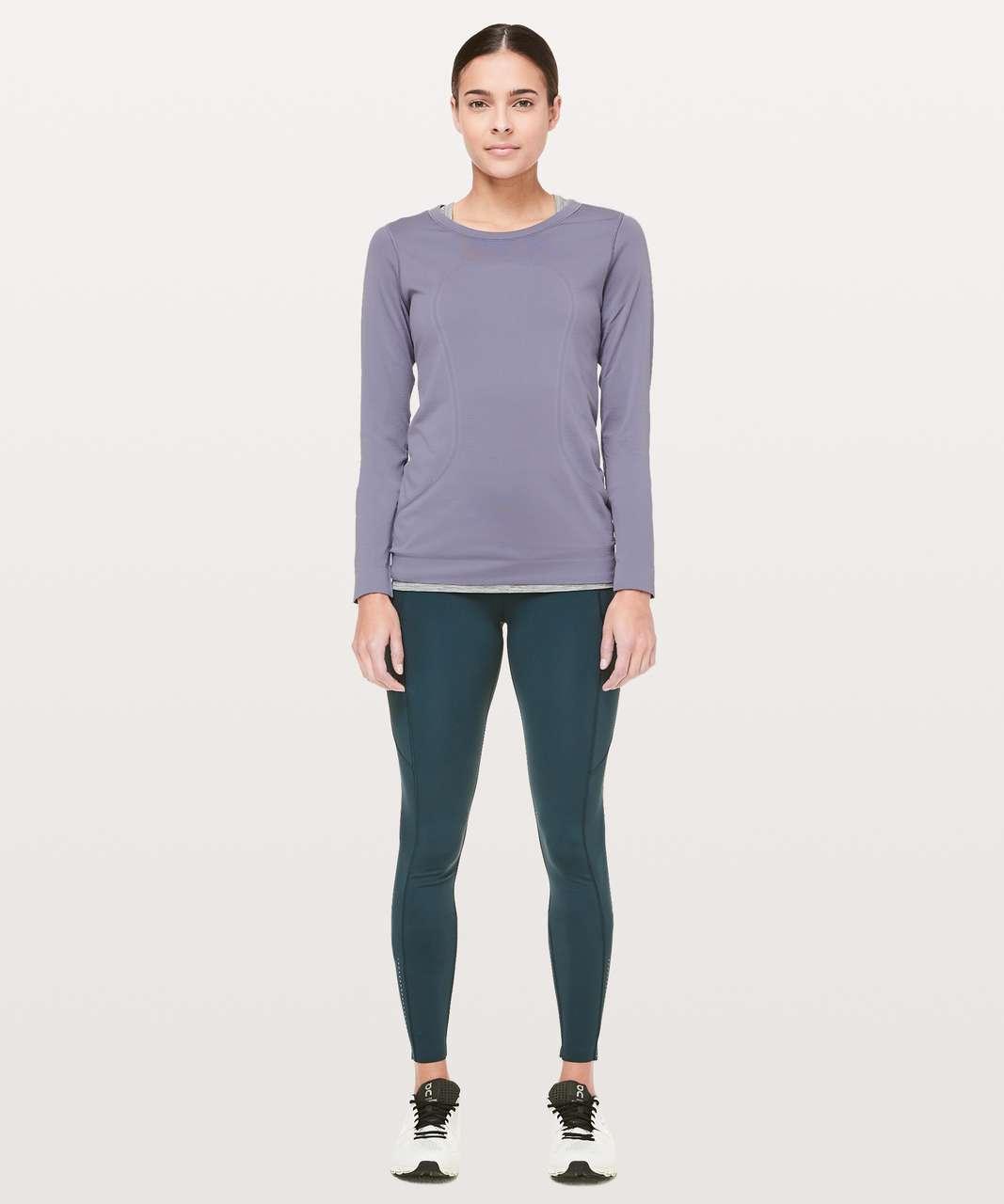 Lululemon Swiftly Tech Long Sleeve (Breeze) *Relaxed Fit - Purple Quartz / Purple Quartz
