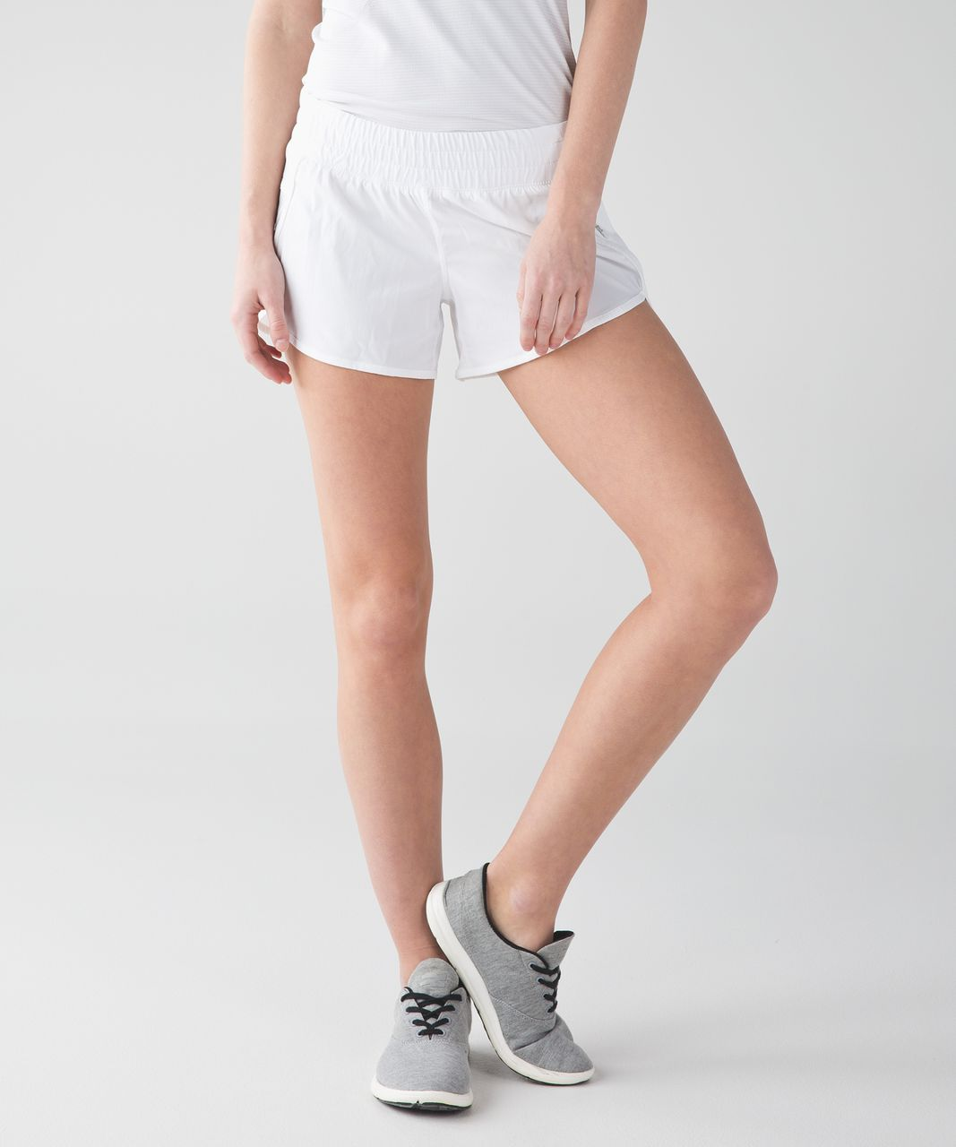"Lululemon Tracker Short IV *2-way Stretch 4"" - White"