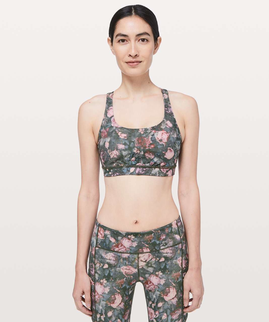 Lululemon Energy Bra - Frosted Rose Multi